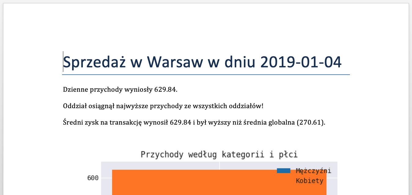 Report in Polish
