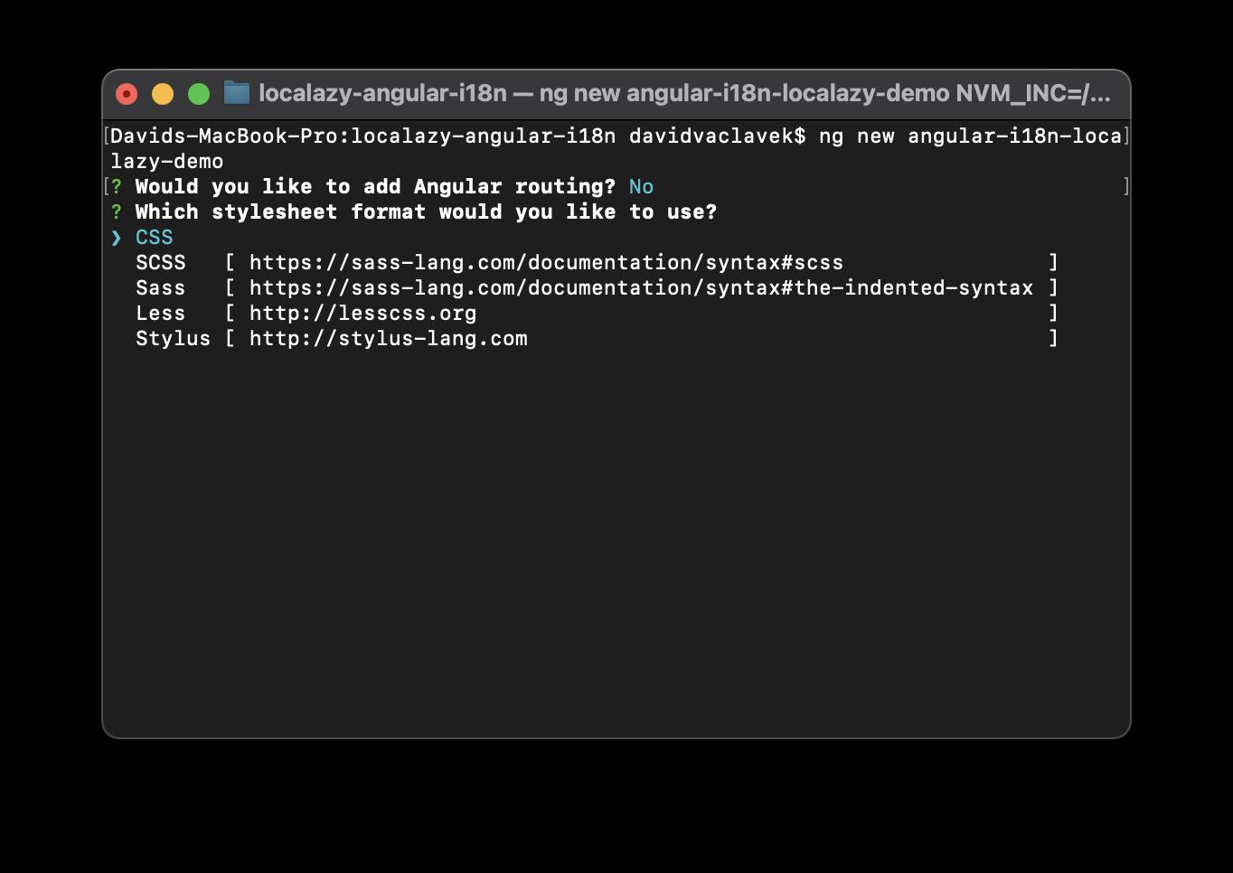 Angular Project Setup