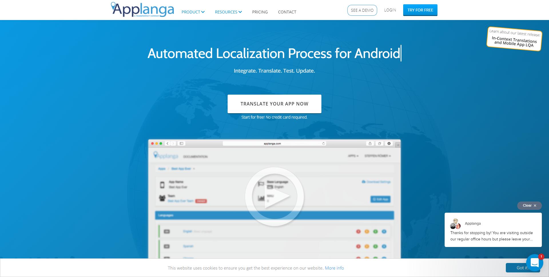 AppLanga.com Homepage