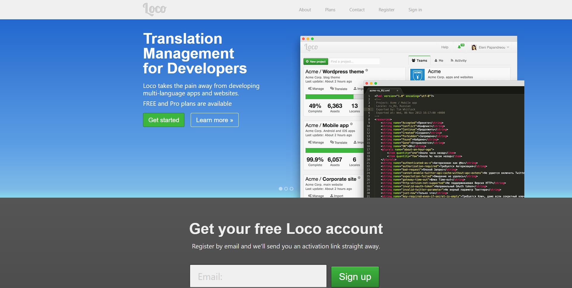 Localise.biz Homepage
