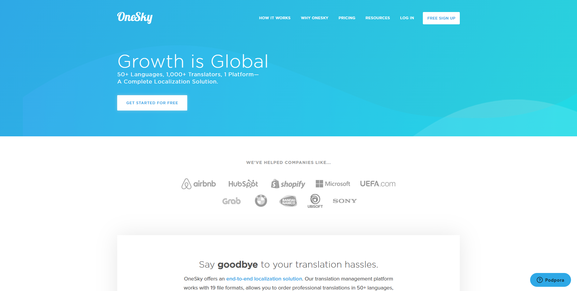 OneSkyApp.com Homepage