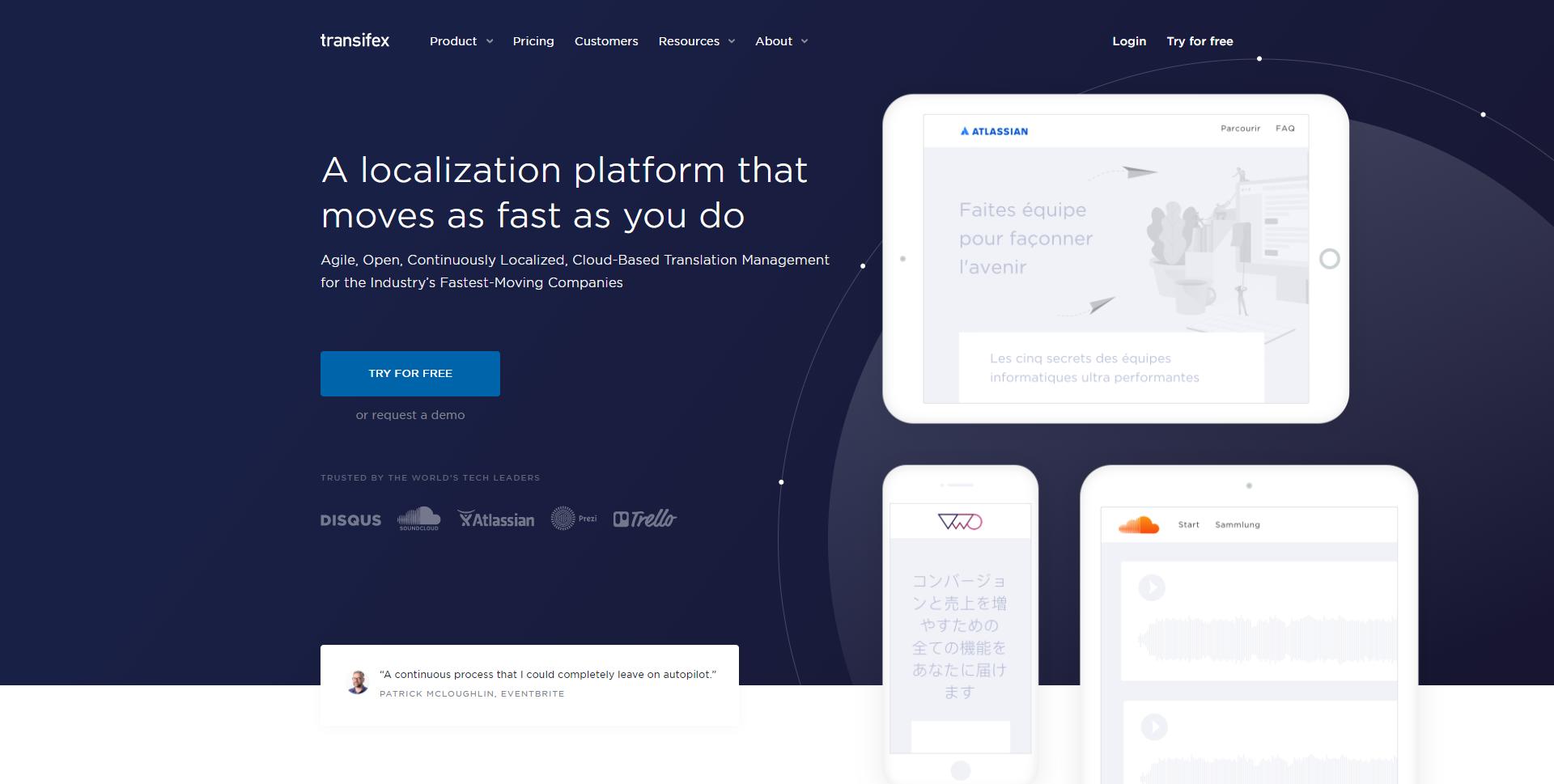 Transifex.com Homepage