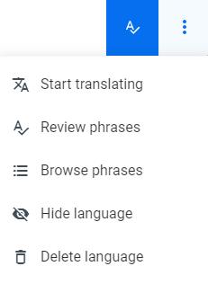 Localazy - Language Context menu