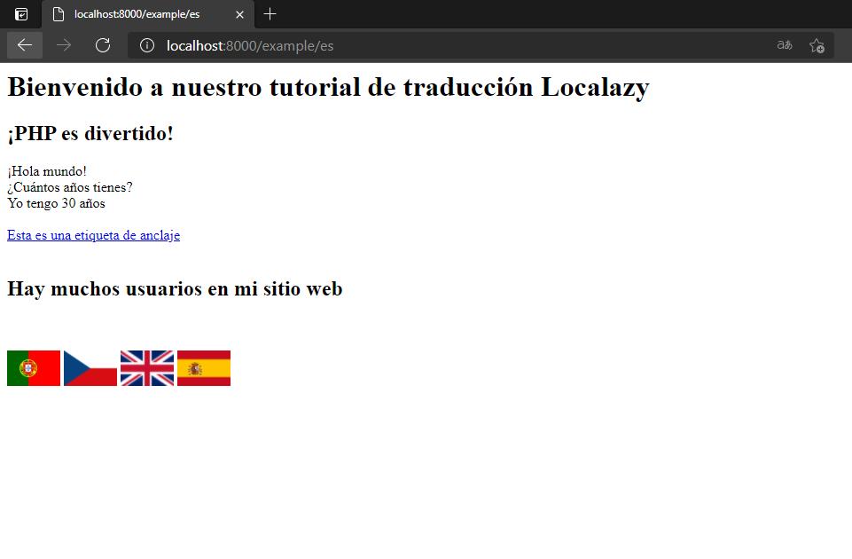 Browser Spanish Translation