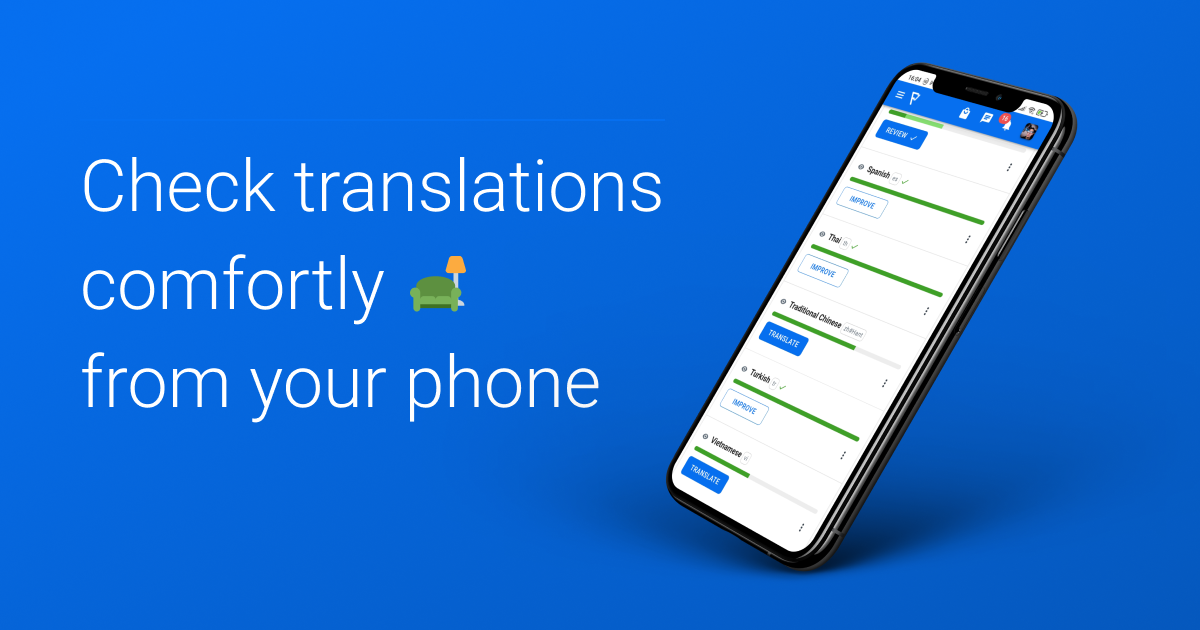 manage translations from phone